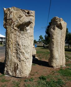 Fossilised Forrest Sculptures - Tourism Canberra