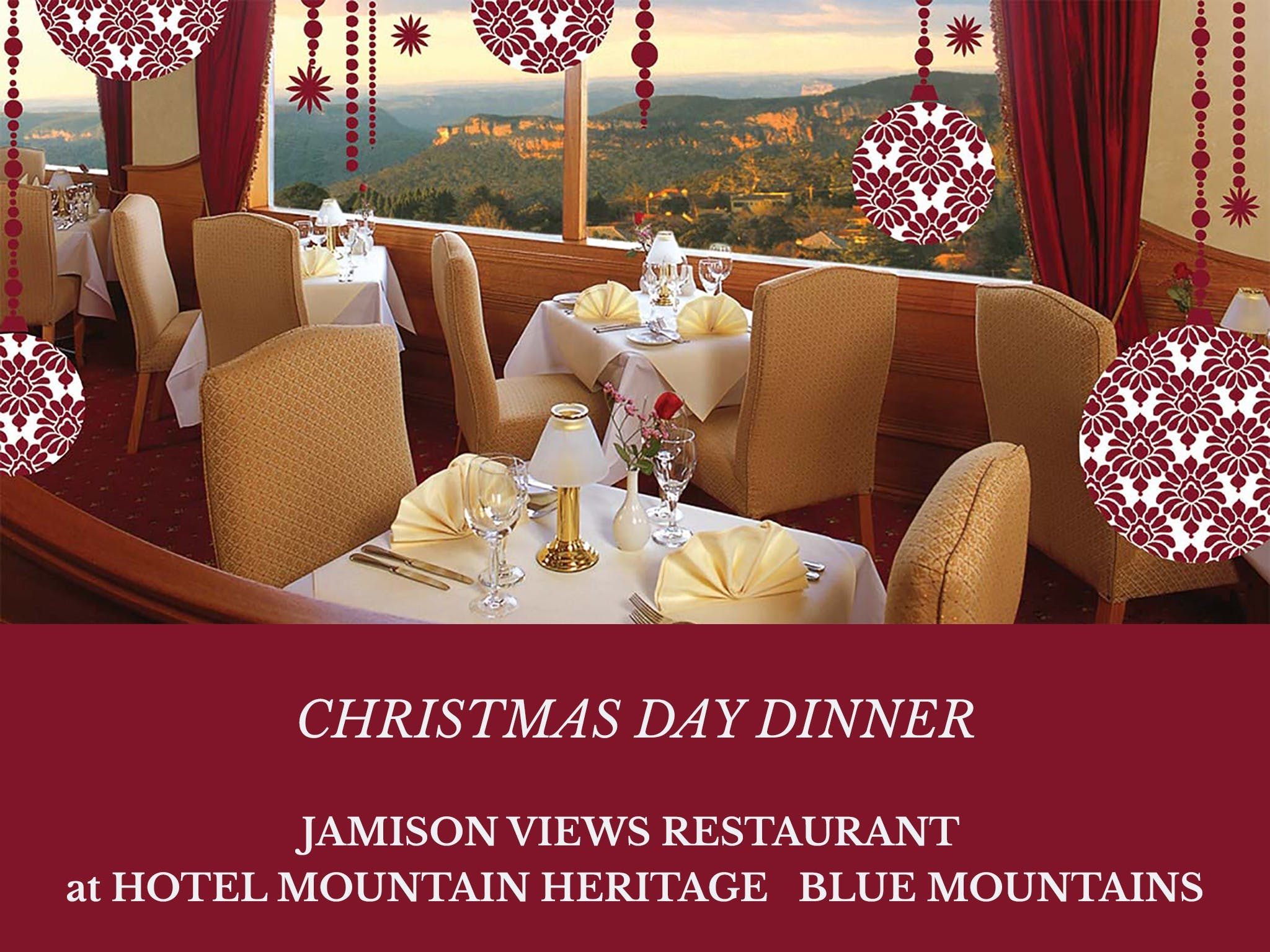 Christmas Day Dinner Hotel Mountain Heritage - Tourism Canberra